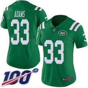 Women Jets #33 Jamal Adams Jersey 100th